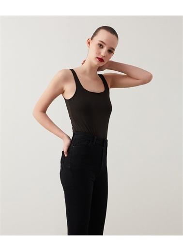 Ipekyol Kadın Push-İn Jean Pantolon IS1210018047001 Siyah